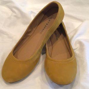 Lucky Brand Mustard Orange Flats
